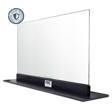"FHC Corona Guard Screen/Partition Kit - 66"" Wide x 26-5/8"" Tall - 1/4"" Glass"